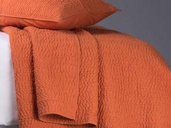 BLANC D'IVOIRE - cesar mandarine - Couvre Lit