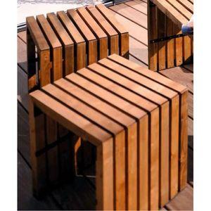 JARDIPOLYS - tabouret de jardin design ligne karel jardipolys - Tabouret