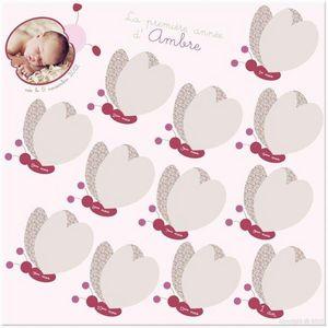 BABY SPHERE - cadre premi�re ann�e papillons - Cadre Multi Vues