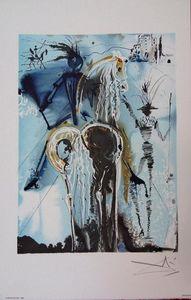ARMAND ISRAËL - don quichotte de salvador dali lithograp - Lithographie