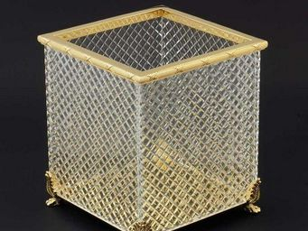 Cristal Et Bronze -  - Poubelle De Salle De Bains