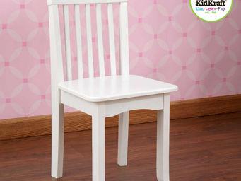 KidKraft - chaise blanche en bois pour enfant 34x32x68cm - Chaise Enfant