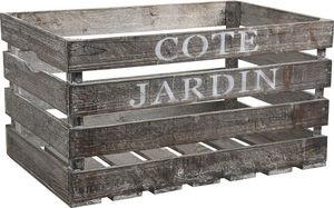 Aubry-Gaspard - caisse en bois côté jardin 38x28x20cm - Caisse De Rangement