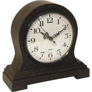 Aubry-Gaspard - horloge de cheminée en bois 21x8x20cm - Horloge À Poser