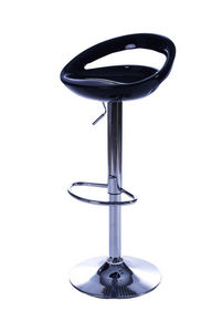 jardindeco - tabouret de bar bubble noir en abs 45x40x82cm - Chaise Haute De Bar