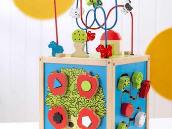 KidKraft - cube d'�veil labyrinthe en bois 27x27x50cm - Jeu D'�veil