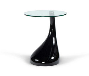 KOKOON DESIGN - table basse droplet noire 45x54cm - Table D'appoint