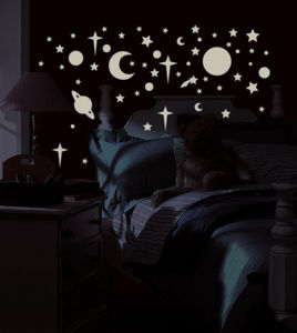 RoomMates - stickers phosphorescents repositionnables ciel �to - Sticker D�cor Adh�sif Phosphorescent Enfant