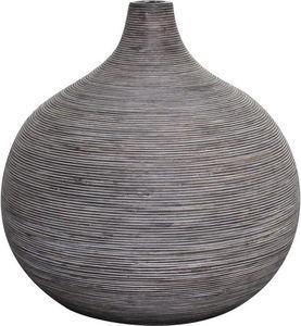 Aubry-Gaspard - vase boule en rotin gris - Soliflore