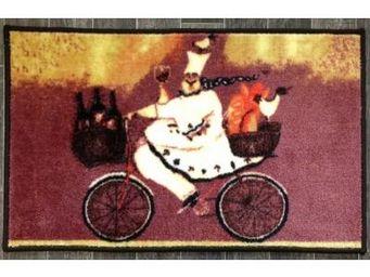 ILIAS - tapis de cuisine cuisinier en vélo 50 x 80 cm - Tapis D'évier