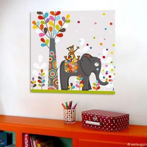 SERIE GOLO - toile imprimée confettis 60x60cm - Tableau Décoratif Enfant