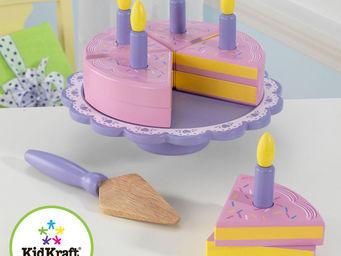 KidKraft - plat avec gateau d'anniversaire en bois 25x19cm - Jouets De Poup�e