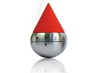 Cm - minuteur acier goutte - couleur - rouge - Minuteur