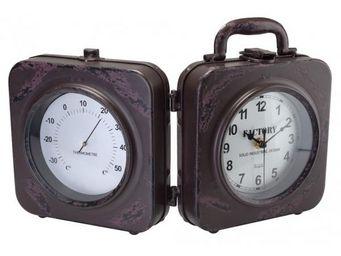 La Chaise Longue - horloge thermometre factory - Horloge � Poser