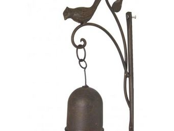 L'HERITIER DU TEMPS - carillon mural oiseau en fonte - Cloche D'extérieur