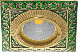 FEDE - smalto italiano san sebastian square collection - Spot De Plafond Encastr�