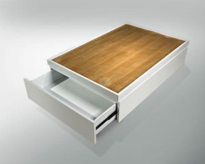 ARTEZEN - berceau - Table Basse À Tiroirs