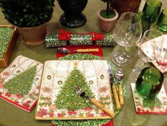 CASPARI - christmas at the garden - Serviette De Noël En Papier