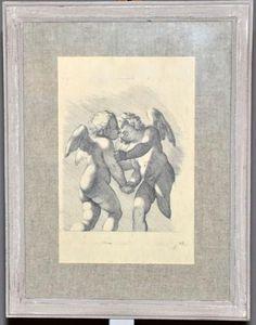 Demeure et Jardin - gravure chérubins - Gravure