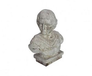 Demeure et Jardin - buste homme romain - Buste