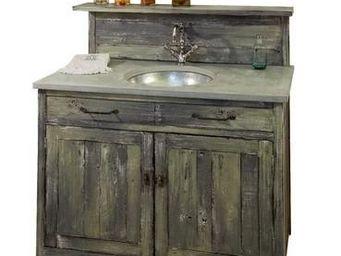 PROVENCE ET FILS - bain luberon simple vasque 110*60*115 -dessus b�to - Meuble Vasque