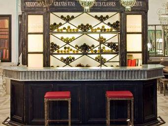 PROVENCE ET FILS - bar terminus struct. patin�e et plateau zinc rembo - Comptoir De Bar