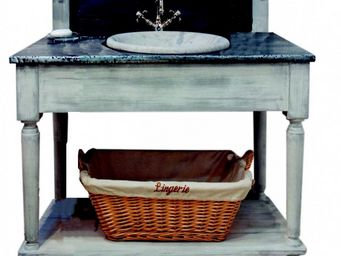 PROVENCE ET FILS - ensemble salle de bain drapiere simple vasque 110* - Meuble Vasque