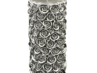 Interior's - bougie roses argent�es - Bougie Ronde