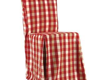 Interior's - housse de chaise vichy rouge - Housse De Chaise