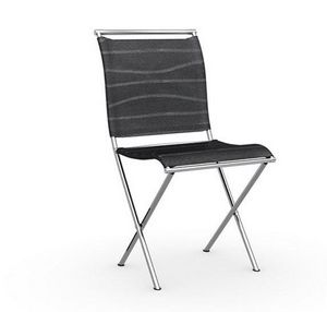 Calligaris - chaise pliante design air folding noire et acier c - Chaise Pliante