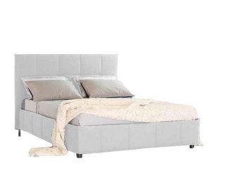 WHITE LABEL - lit coffre design romeo couchage 140*190cm, t�te d - Lit Coffre