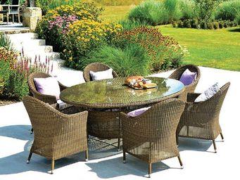 Alexander Rose - -weave- - Table De Jardin Ronde