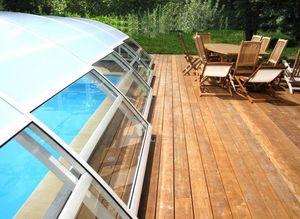 Abri piscine POOLABRI -  - Abri De Piscine Haut Coulissant Ou T�lescopique