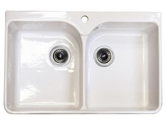 Interior's - evier 2 bacs pour meuble but1 - Evier Double