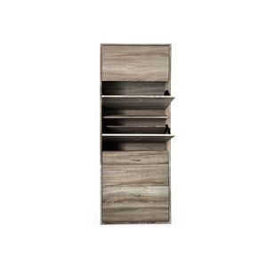 WHITE LABEL - meuble armoire � chaussure bois tiroirs - Meuble � Chaussures