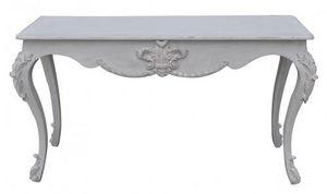 Demeure et Jardin - console patine grise style louis xv - Console