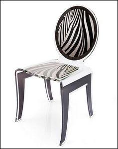 Mathi Design - chaise wild acrila - Chaise Médaillon
