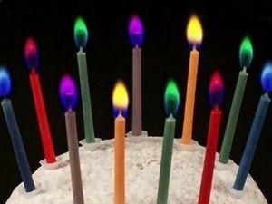 WHITE LABEL - lot de 12 bougies : flamme color�e objet deco mais - Bougie D'anniversaire