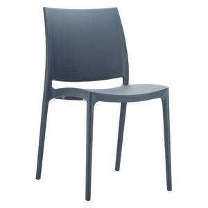 Mathi Design - chaise maya grise - Chaise De Jardin