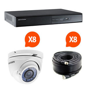 CFP SECURITE - kit videosurveillance turbo hd hikvision 8 caméras - Camera De Surveillance