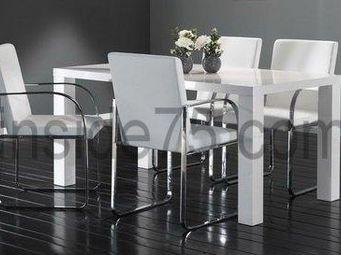 WHITE LABEL - table de repas glossy laqu�e blanche - Table Basse Relevable