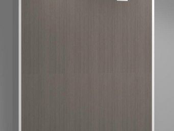 WHITE LABEL - armoire lit verticale agata marron couchage 160*20 - Lit Escamotable