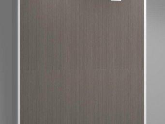 WHITE LABEL - armoire lit verticale agata marron couchage 160*20 - Lit Escamotable
