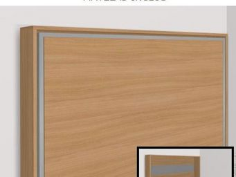 WHITE LABEL - armoire lit escamotable athena, cerisier. matelas - Armoire Lit