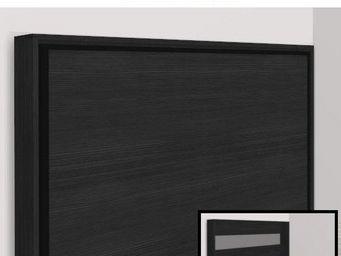 WHITE LABEL - armoire lit escamotable athena, chêne noir. matela - Armoire Lit