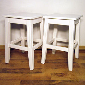 ECHOS Furniture - droit - blanc - Tabouret
