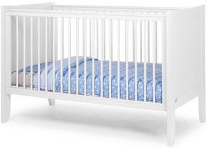 WHITE LABEL - lit bébé évolutif à barreaux 70x140cm coloris blan - Lit Pliant Bébé