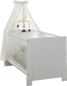 WHITE LABEL - lit bébé blanc 70x140 - Lit Pliant Bébé