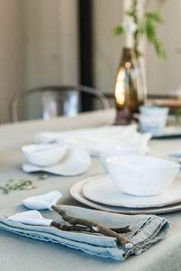 Couleur Chanvre - --couleur vert amande en chanvre pur - Serviette De Table