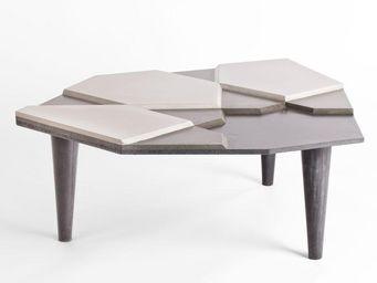 MALHERBE EDITION - table basse fragment béton - Table Basse Forme Originale